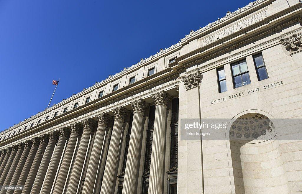 USA, New York, New York City, American post office building : Stock Photo