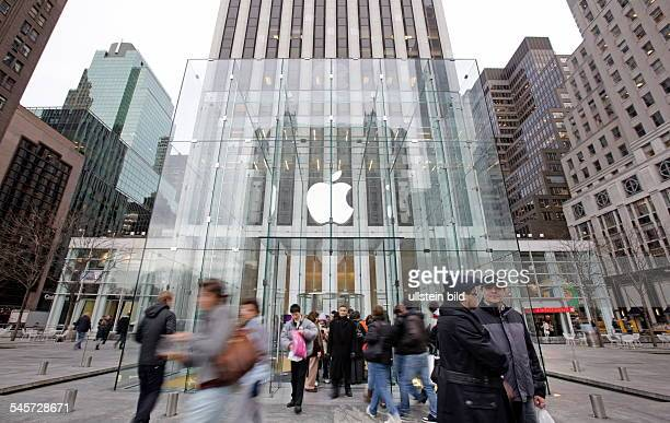USA New York New York City Apple Store at 5th Avenue