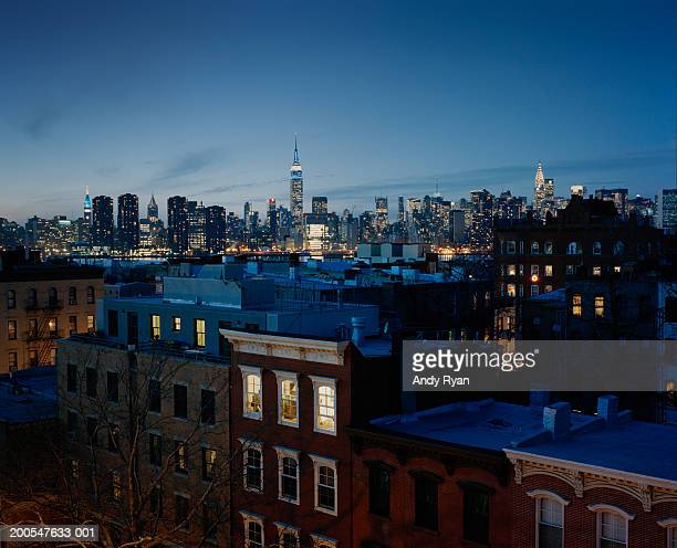 USA, New York, New York City, Brooklyn, Brownstone buildings