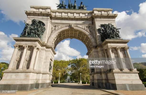usa, new york, new york city, brooklyn, grand army plaza, arch of civil war memorial - プロスペクト公園 ストックフォトと画像