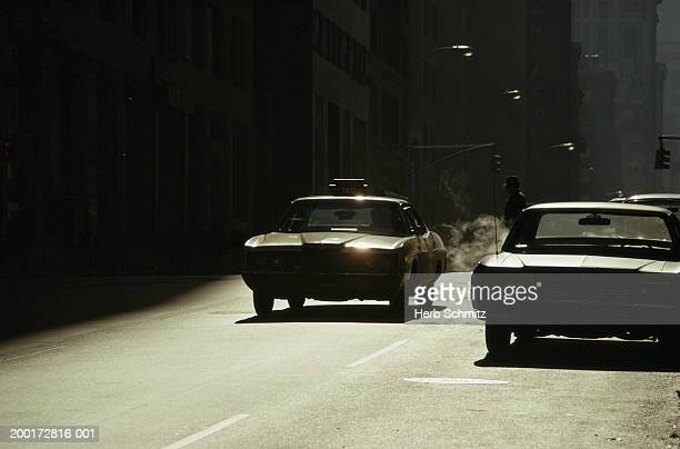 usa, new york, new york city, cars on road, morning - 1985 stock pictures, royalty-free photos & images