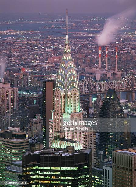 USA, New York, New York City, Chrysler Building, night