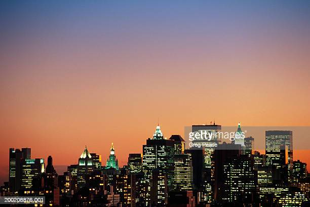 """usa, new york, new york city skyline, sunset - """"greg pease"""" stock pictures, royalty-free photos & images"""