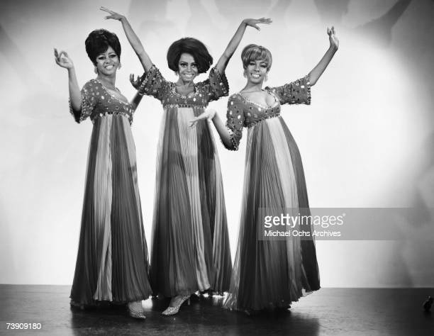 1968 New York New York City Supremes LR Cindy Birdsong Diana Ross Mary Wilson