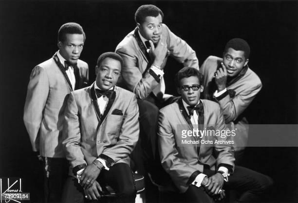 New York, New York City, Temptations, L-R: Paul Williams, Dennis Edwards, Melvin Franklin, Eddie Kendricks, Otis Williams.
