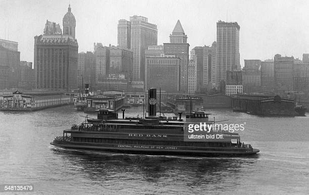 USA New York New York City The first impression on arrival by boat 1925 Vintage property of ullstein bild