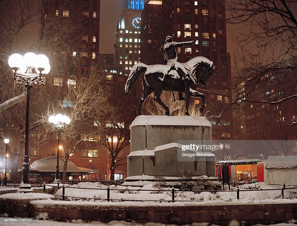 USA, New York, New York City, Union square park in winter : Stockfoto