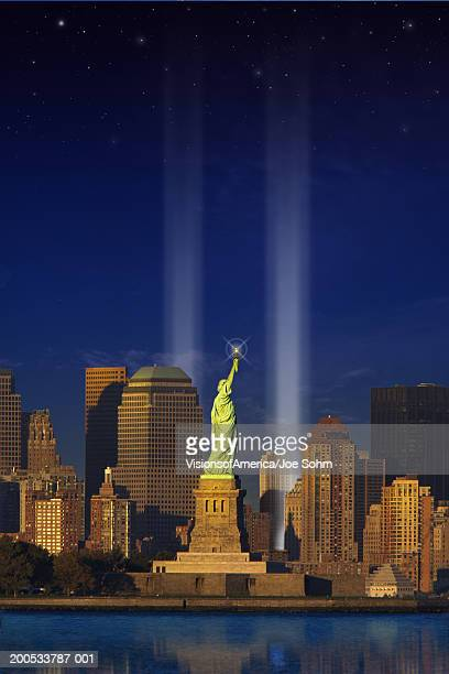 USA, New York, New York City, World Trade Center memorial