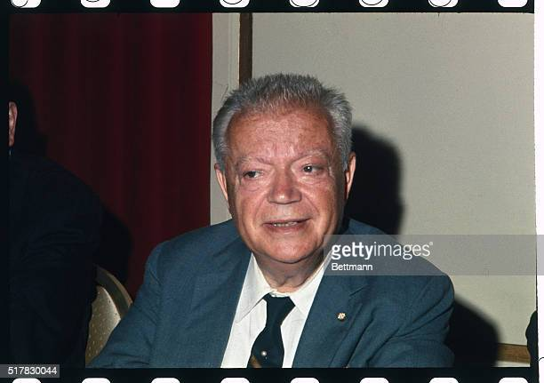 David Dubinsky 1st vice chairman of the Liberal Party is shown at the Roosevelt Hotel as he attends his party's convention