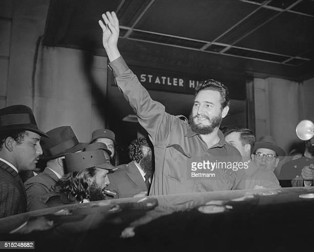 Fidel Castro, Cuban President, in New York City.