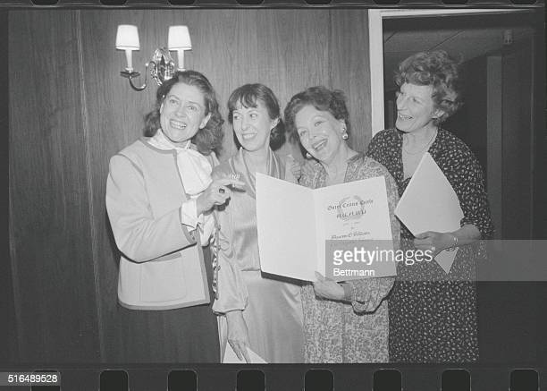 Four of the women in the cast of Mornings at Seven show one of their awards after they were honored June 6 for their exciting and stimulating...