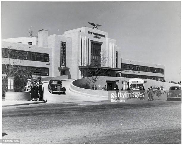 General view of the main terminal building at the New York Municiapl Airport La Guardia Field Ca 19251950