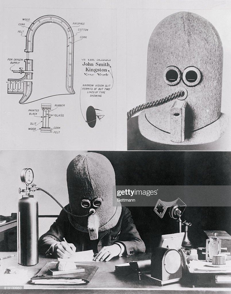Man Wearing an Isolation Mask : News Photo