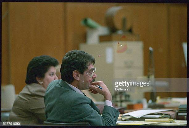 Ira London questions Dr Aglae Charlot about a photo made of Lisa Steinberg during an autopsy of the 6 year old girl as acting State Supreme Court...