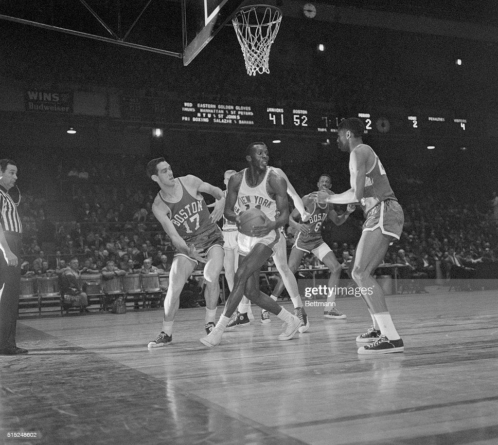 Madison Square Garden Knicks Boston Basketball Johnny Green Of
