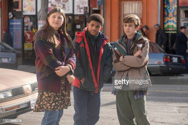 "New York, New York, New York"" Episode 416 -- Pictured: Mackenzie Hancsicsak as Kate, Lonnie Chavis as Randall, Parker Bates as Kevin --"