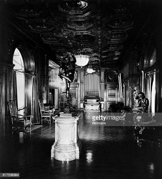 New York New York Picture shows the main hall of the 66 room mansion of industrialist Andrew Carnegie Undated photo