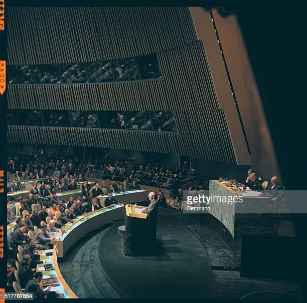 President Eisenhower addresses the UN General Assembly September 22 1960