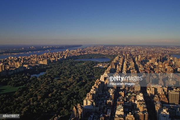 New York New York Scenic Aerial View Of Manhattan and Central Park