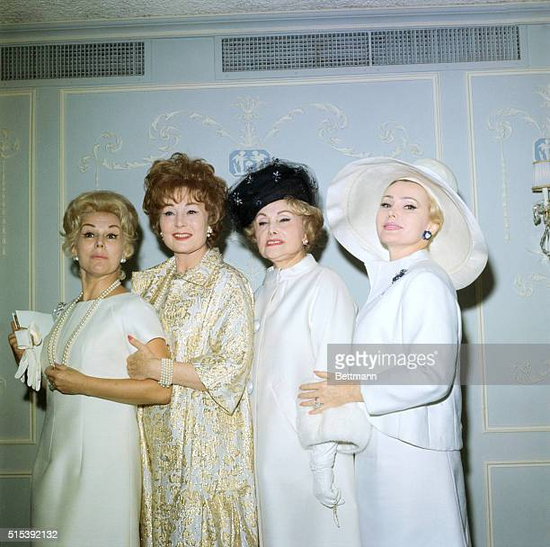 Sister act Well almost It's Mother Jolie Gabor and her daughters Eva Magda and Zsa Zsa as they greeted guests to a reception at Viosin Restaurant...