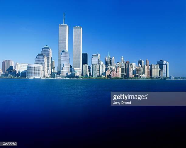 usa, new york, new york, skyline of lower manhattan - world trade center manhattan stock pictures, royalty-free photos & images