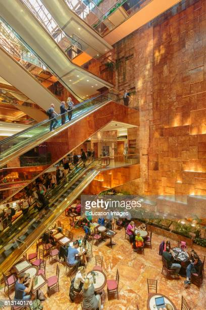 New York New York State United States of America Interior of Trump Tower on Fifth Avenue
