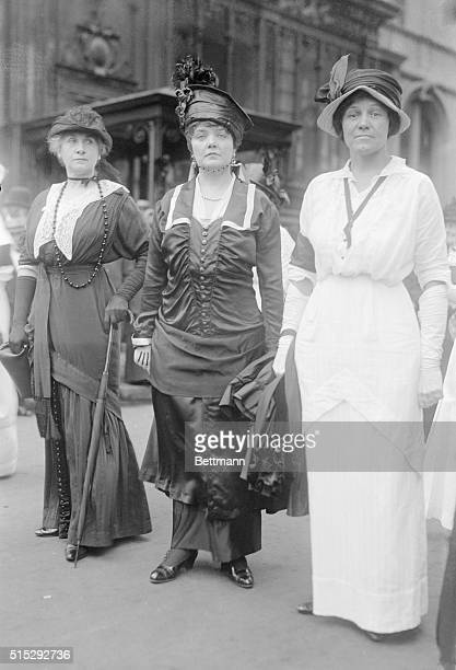 Women Protesters Of The European War Suffragette Mrs Elmer Black is shown in center