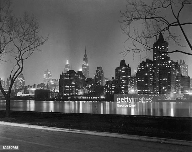 new york night - manhattan bildbanksfoton och bilder
