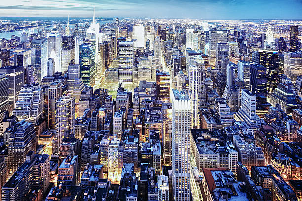 New York Nighttime Skyline Wall Art