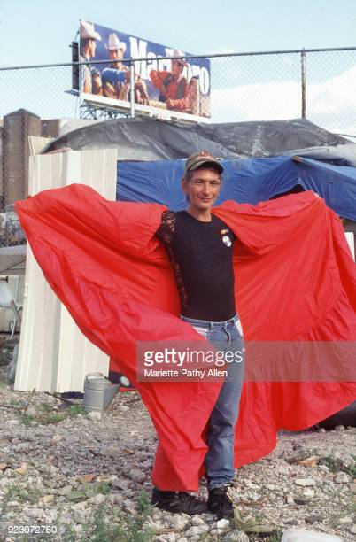 1996 Sylvia Rivera homeless modeling the red cape she wore at the Gay Pride Parade Shortly after the Stonewall riots Sylvia and her friend Marsha P...