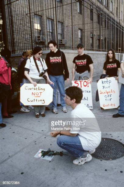 1997 Cheryl Chase with other demonstrators at ColumbiaPresbyterian Babies' Hospital The demonstration protests nonconsensual surgeries on intersex...