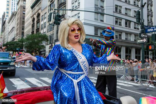 New York, NY - 25 June 2017. New York City Heritage of Pride March filled Fifth Avenue for hours with groups from the LGBT community and it's...