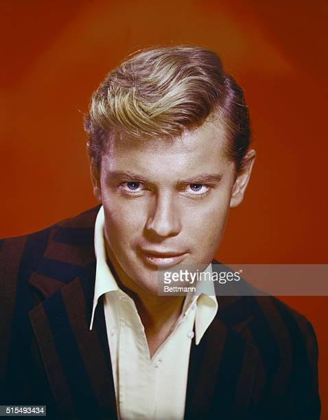 Actor of Troy Donahue closeups also at pool full body shot