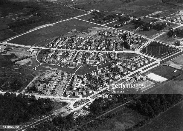 Aerial view of housing development in Sunnyside Queens NY Photograph