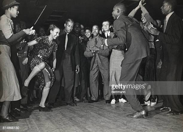 African Americans dancing in a Harlem nightclub late 1930'S Photograph