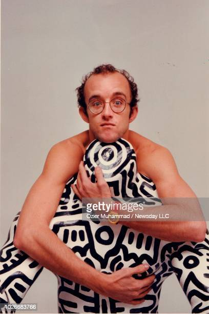 Artist Keith Haring photographed in a studio in Manhattan on April 15 1986