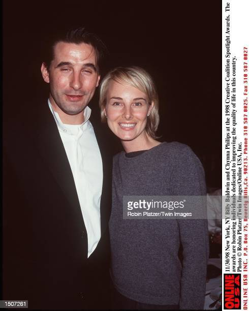 New York NY Billy Baldwin and wife Chynna Philips at the 1998 Creative Coalition Spotlight Awards The awards honor those individual dedicated to...