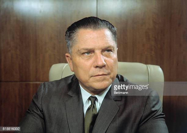 Closeups of James Hoffa president of the teamsters union