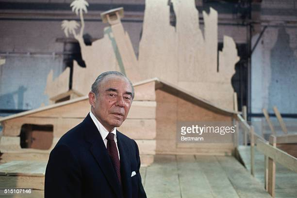 Composer Richard Rodgers shown in the theater during a rehersal of his latest Broadway musical Two by Two