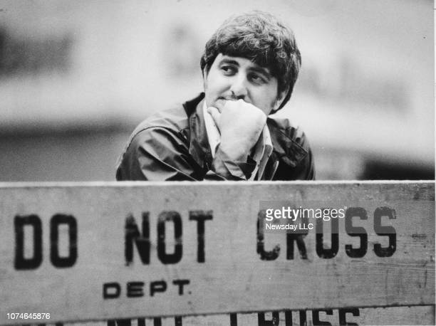 Convicted bank robber John Wojtowicz out of jail and having no luck looking for a job in front of the Bryant Hotel 54th St 7th Ave in New York City...