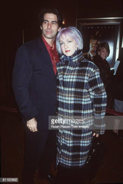 New York Ny Cyndi Lauper And Husband David Thornton At The Premiere Of The Green Mile