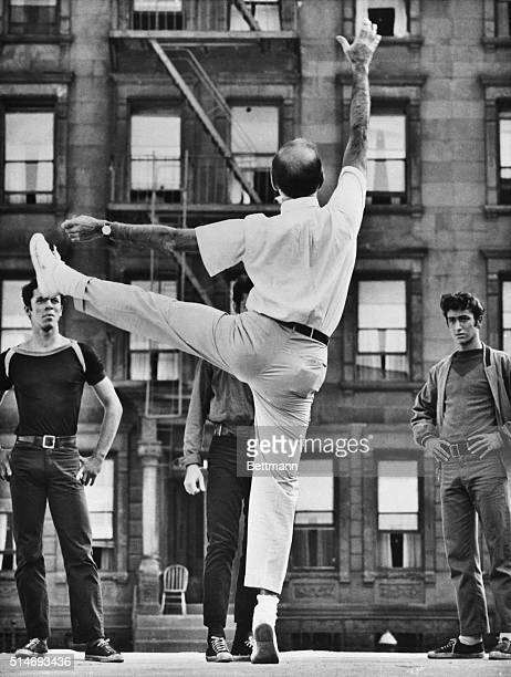4/6/1961 New York NY Dancing Master dancing in the streets of New York with grace and power developed through years of Broadway experience Jerome...