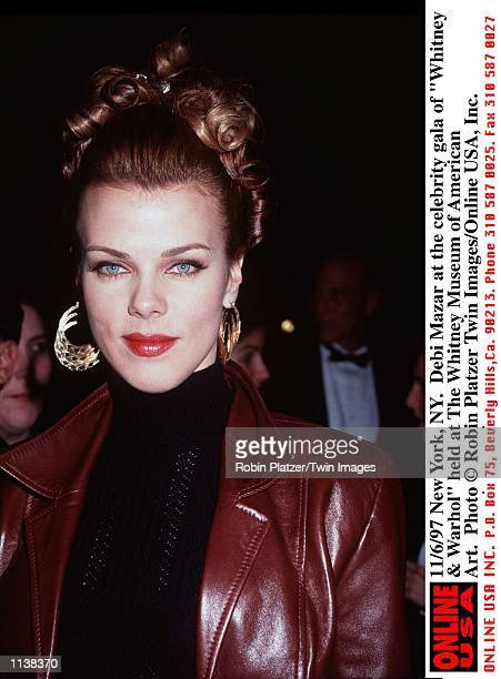 """New York, NY. Debi Mazar at the celebrity gala of """"Whitney & Warhol"""" held at The Whitney Museum of American Art."""