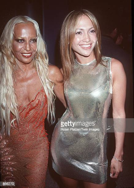 "New York, NY. Donatella Versace and Jennifer Lopez at The Limelight for the launching of ""Notorious Magazine,"" co-published by Sean ""Puffy"" Combs.""..."