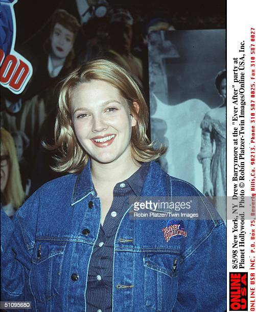 New York Ny Drew Barrymore At The 'Ever After' Party At Planet Hollywood Peace