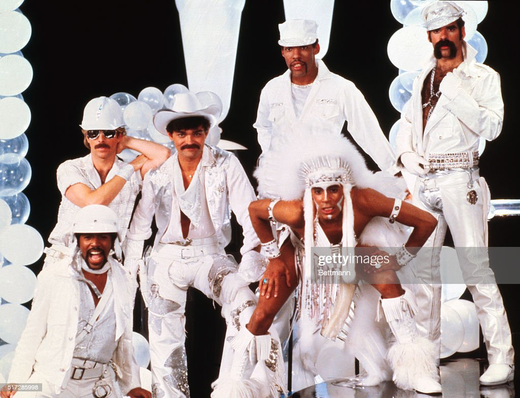 Group Portrait of the Village People : News Photo