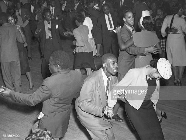 Harlem Inspired crowd in Savoy ballroom during jitterbuggin days Undated photograph