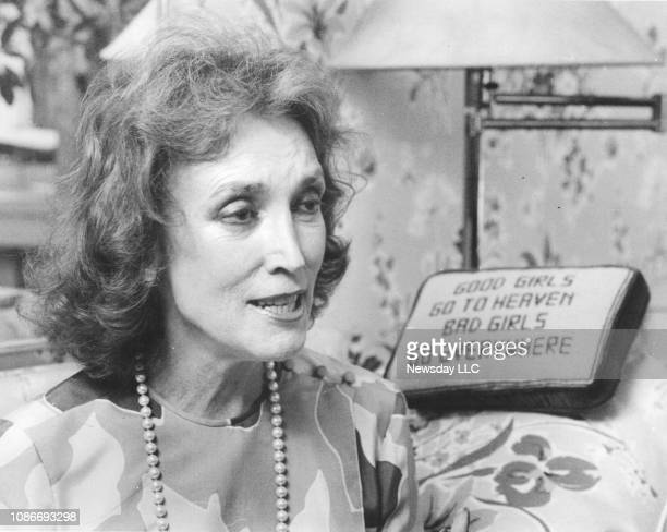 Helen Gurley Brown, editor of Cosmopolitan magazine, during an interview in her Manhattan office on August 12, 1985.