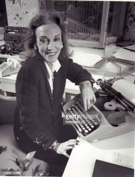 Helen Gurley Brown, editor of Cosmopolitan magazine, celebrates the 25th anniversary of the publication at her Manhattan office on April 19, 1990.