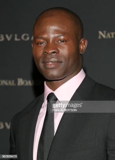 New York NY Jan 9 2007 Djimon Hounsou at the 2006 National Board of Review Awards Gala portrait smile eye contact Frank Albertson